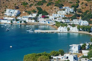 Monastery of Taxiarques, Vathi, beach, village, port, Sifnos Island, Cyclades Islands, Greek Islands, Aegean Sea, Greece, Europe