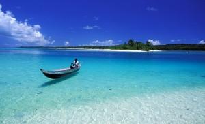 Madagascar, Eastern coast, Sainte Marie Island (Nosy Boraha), the pass to the small island of ile aux nattes