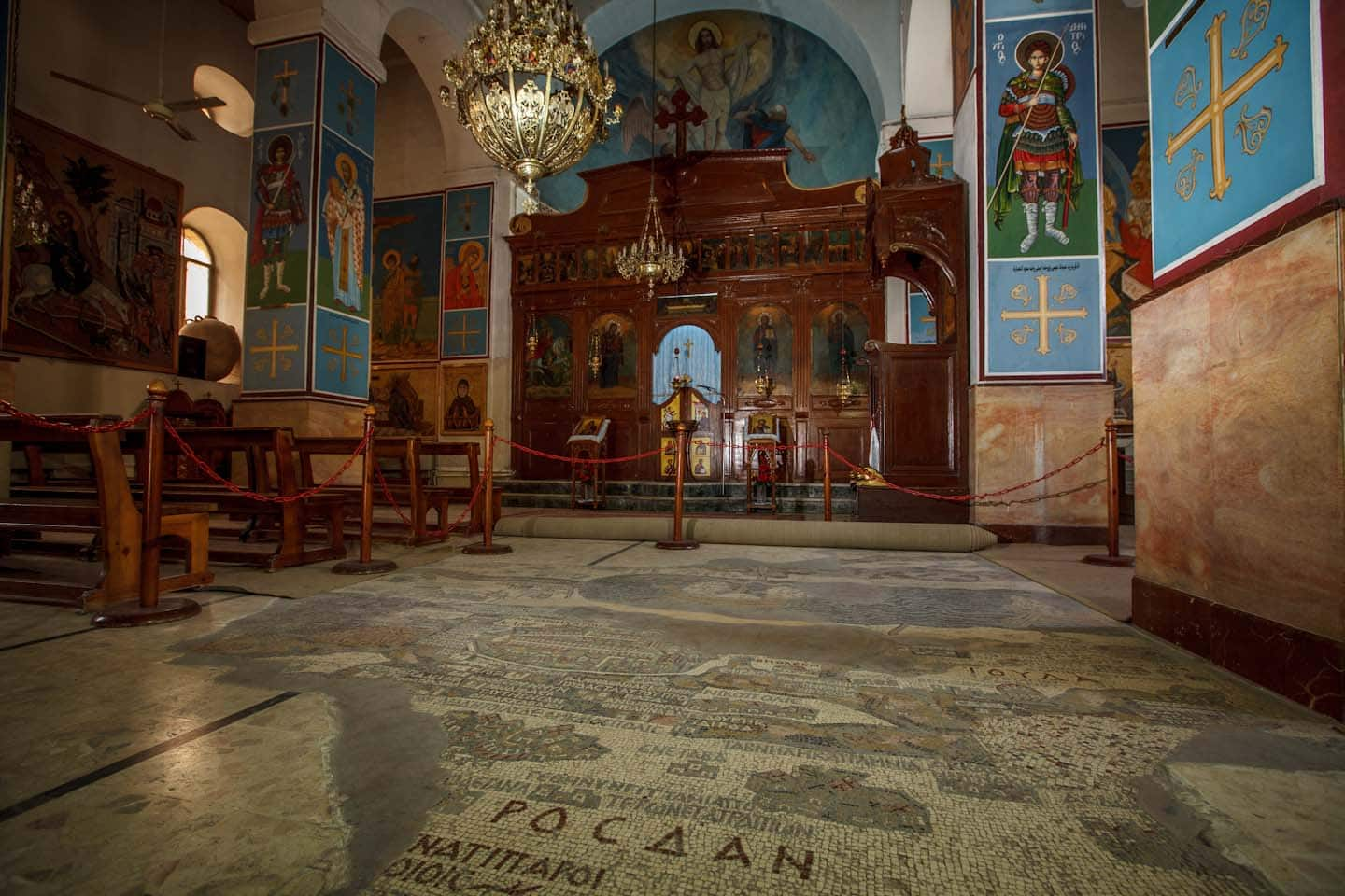 Madaba Mosaic Map and St. George's Church