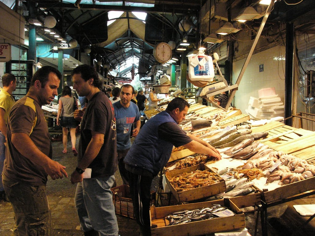 Thessaloniki fish market