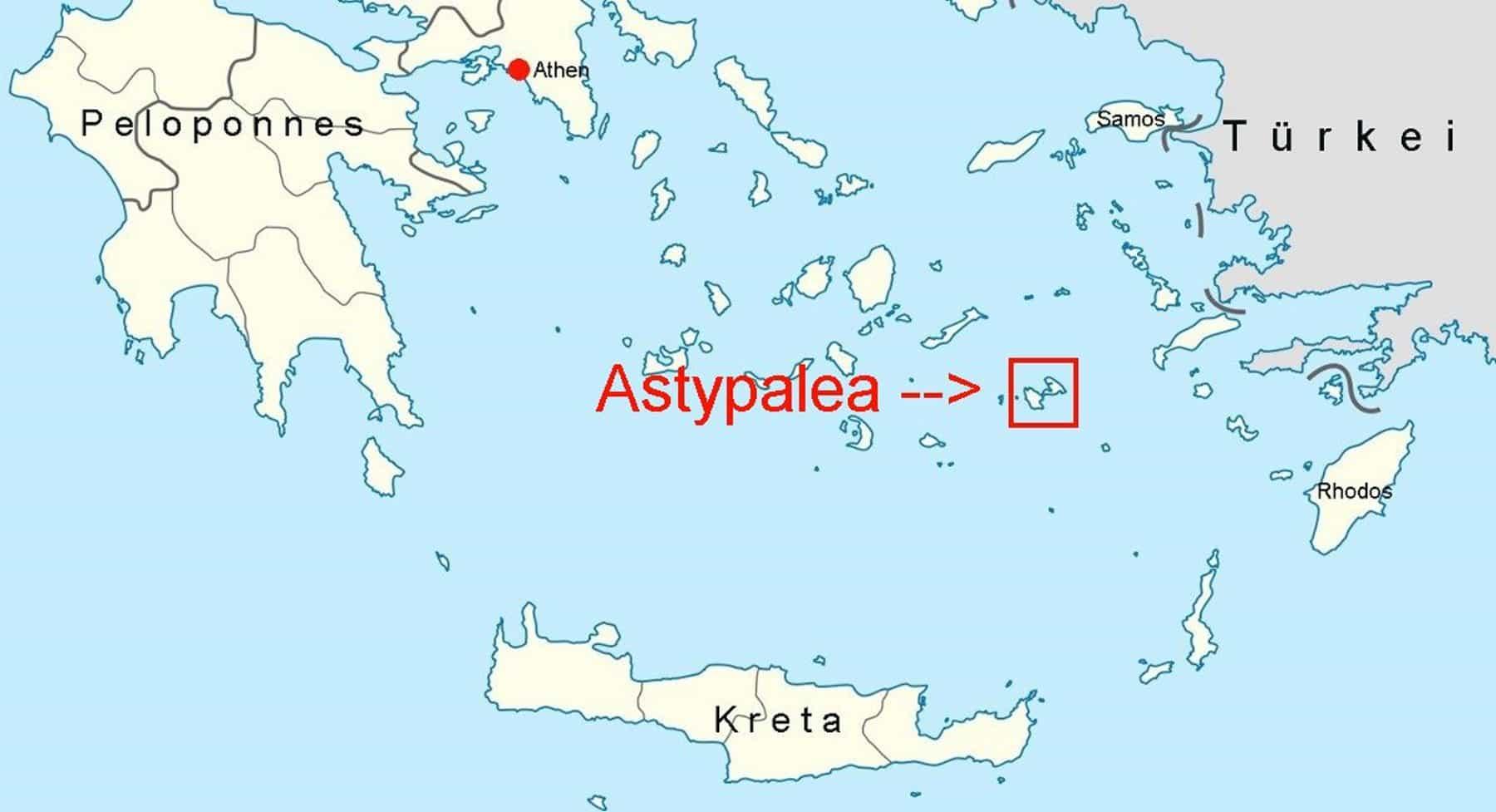 mappa Astypalea