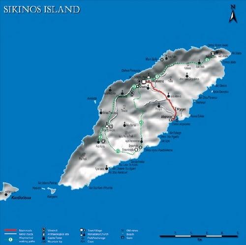 mappa Sikinos