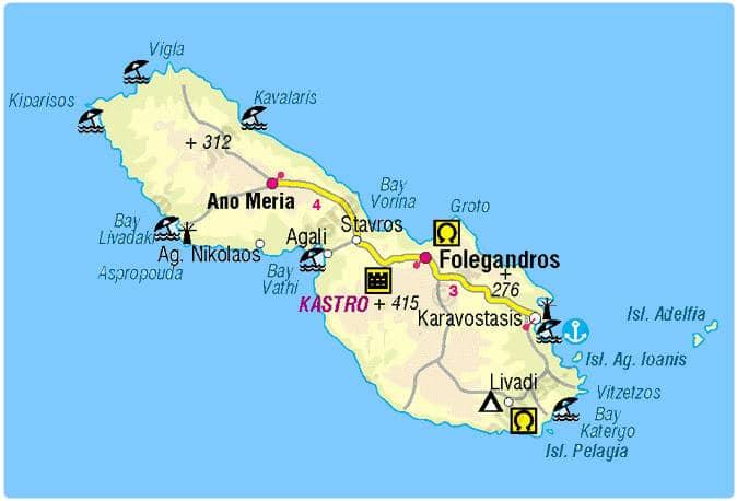 mappa folegandros
