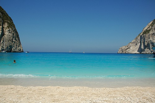 spiaggia del relitto Zante