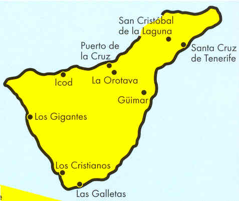 Isola Tenerife Cartina.Mappa Tenerife Isole Canarie Horizon Viaggi