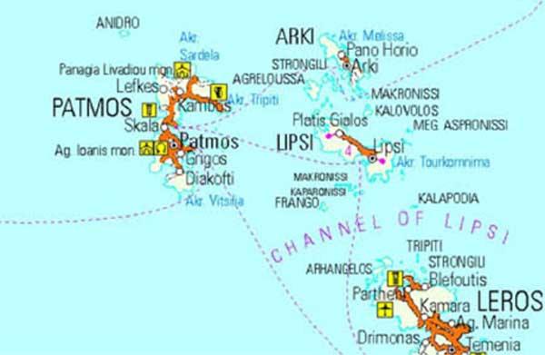 patmos mappa