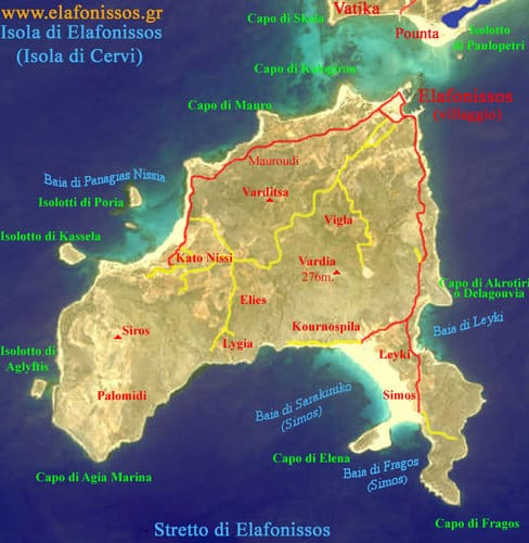 mappa elafonissos